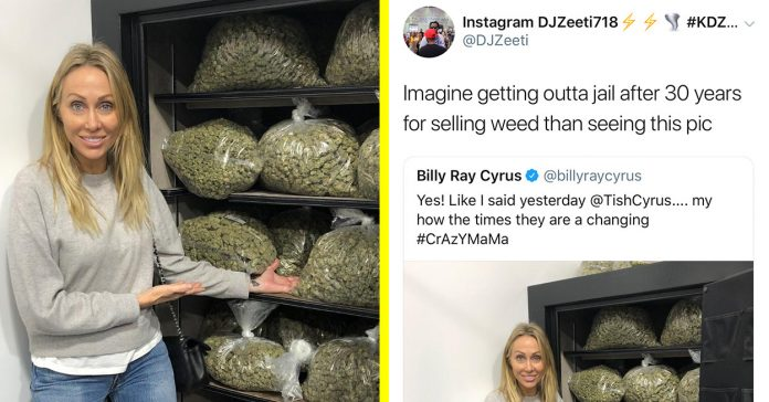 Photo Of Miley Cyrus's Mom With A Big Stash of Weed Sparked Huge Debate!