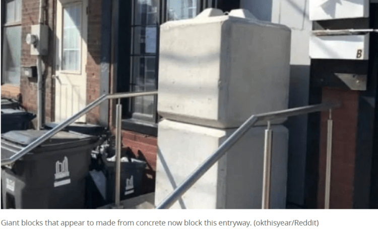 Toronto Using Cement Blocks To Prevent Unlicensed Dispensaries From Reopening
