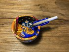Just finished my joint holding ashtray. Handmade and hand painted by me
